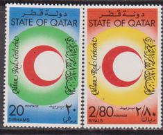 Qatar 1982 ** Mi.816/17 CROCE ROSSA RED CROSS MEDICINA MEDICINE Salute Health - Croce Rossa