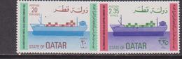 Qatar 1982 ** Mi.838/39 Navi Portacontainer Ships Materialmente - Trasporti