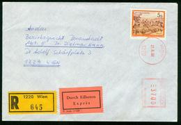 FR Austria Registered Express Cover With Meter Cancel | Wien 21.6.1988, Freistempel - 1945-.... 2nd Republic