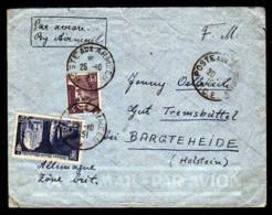"""Miltär-Flugpostbrief 1951 """"Poste Aux Armees"""" Nach Deutschland - France"""