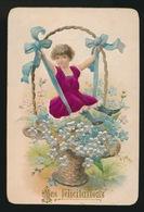 OUD KAARTJE  ( KARTON ) 12 X 8 CM   COLLAGE  RELIEF - Cartes Postales