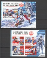 ST1788 2016 S. TOME E PRINCIPE SPORTS OLYMPIC GAMES SOCHI 1KB+1BL MNH - Inverno 2014: Sotchi
