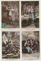 Lot 8 CPA Série Jeanne D'Arc N° 1 à 8 édition AS - Femmes Célèbres