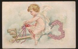 OUD KAARTJE  ( KARTON ) 10 X 7 CM    RELIEF - Cartes Postales