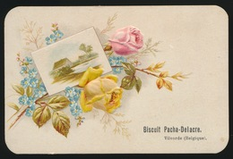 OUD KAARTJE  ( KARTON ) 12 X 8 CM    RELIEF  BISCUIT PACHA DELACRE VILVOORDE - Cartes Postales