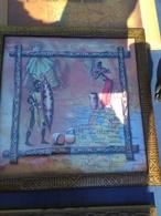 CADRE LITHOGRAPHIE GUERRIER AFRICAIN ET CARTE - African Art