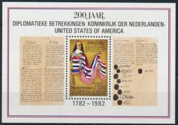 Niederländische Antillen Block 200 Jahre Diplomatische Beziehungen Zu USA Einwandfrei Postfisch/** - Antillen