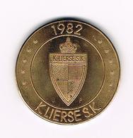 //  E 37. LIER  - K. LIERSE  S.K. 75 SPORTKRINGERS  1982 - Jetons De Communes