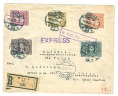 1922 Austria Registered Air Cover To Cairo, 'Express' Cachet. - 1918-1945 1. Republik