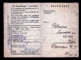 """2-sprachige Vordruckkarte """"SS-Polizeiführer Lettland"""" Aus Riga - Lettonie"""