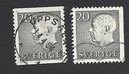 Schweden, 1961, Michel-Nr. 469 A+Dr, Gestempelt - Usati