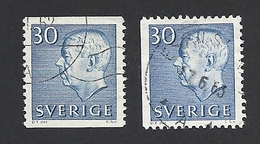 Schweden, 1961, Michel-Nr. 470 A+Dl, Gestempelt - Usati