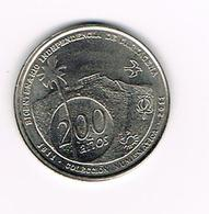 //  PENNING 200 ANOS INDEPENDENCIA DE CARTAGENA 2011 - Souvenir-Medaille (elongated Coins)