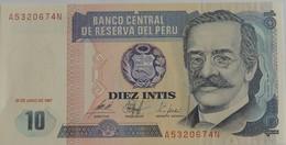 Billet Du Pérou 10 Intis 1987 Neuf/UNC - Peru