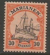 Mariana Islands - 1901 Kaiser's Yacht 30pf MH *    Sc 22 - Colony: Mariana Islands