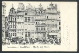 +++ CPA -  BRUXELLES - BRUSSEL - Grand'Place - Marché Aux Fleurs - Market   // - Markten