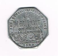 // BROODKAART  1  VOORUIT GEWEST  DENDERMONDE 1880 - Monetary / Of Necessity