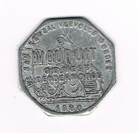 // BROODKAART  1  VOORUIT GEWEST  DENDERMONDE 1880 - Monedas / De Necesidad