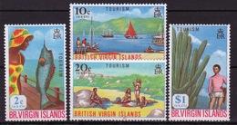 British Virgin Islands 1969 Queen Elizabeth Set Of Stamps Celebrating Tourism. - British Virgin Islands
