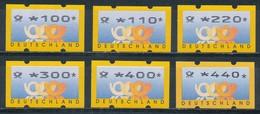 Bund ATM 1999 ** Typ Posthorn 6 Werte 100 .. 440 - [7] West-Duitsland