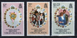 British Virgin Islands 1981 Queen Elizabeth Set Of Stamps Celebrating Royal Wedding - British Virgin Islands