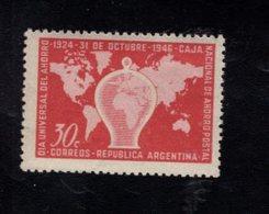 780014423 1946 SCOTT 558 POSTFRIS  MINT NEVER HINGED EINWANDFREI  (XX) - COIN BANK AND WORLD MAP - Argentinien