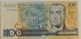 Billet Du Brésil 100 Cruzados 1987 Pick 211b Peu Circulé - Brazil