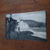 Cartolina Postale 1920 Bordighera Mareggiata - Imperia