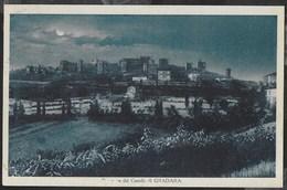 CASTELLO DI GRADARA - PANORAMA - FORMATO PICCOLO - EDIZ. TRATTORIA DEL BORGHETTO E CAFFE' DEL FASCIO - VIAGGIATA  1932 - Castelli