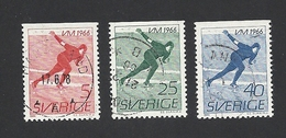 Schweden, 1966, Michel-Nr. 546-548 Do, Gestempelt - Usati