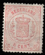 1869 Rijkswapen 1,5 Ct Roze.NVPH 16B (dik Papier, Kleine Gaten, Kamtanding 13,25)  Ongestempeld - Ongebruikt