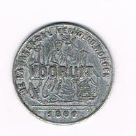 //  DEELTJETON  10 C. GENT SAM MAATSCH.  VOORUIT  1880 - Monetary / Of Necessity