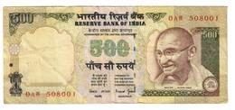 India 500 Rupees 2000-2003 Series 0 - India
