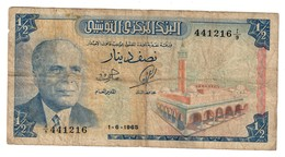 Tunisia 1/2 Dinar 01/06/1965 - Tunisia