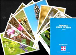 [MD3548] CPM - REGIONE PIEMONTE - SERIE 1 - 10 CARTOLINE CON POCHETTE - PRINCIPALI PIANTE PROTETTE  - Non Viaggiata - Agricoltura