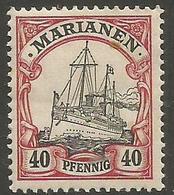 Mariana Islands - 1901 Kaiser's Yacht 40pf MH *    Sc 23 - Colony: Mariana Islands