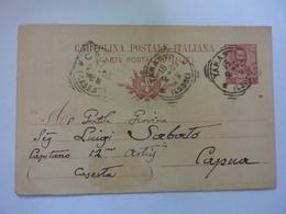 "Cartolina Postale Viaggiata Per Capua ""Luigi Sabato Cap. 12° Batt. Artiglieria ""  1905 - Marcophilia"