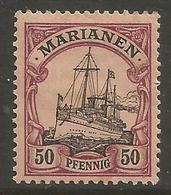 Mariana Islands - 1901 Kaiser's Yacht 50pf MH *    Sc 24 - Colony: Mariana Islands