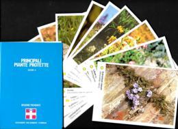 [MD3551] CPM - REGIONE PIEMONTE - SERIE 4 - 10 CARTOLINE CON POCHETTE - PRINCIPALI PIANTE PROTETTE  - Non Viaggiata - Agricoltura