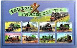 St.Vincent 1998**Mi.4395-02 Locomotives , MNH [17;34] - Eisenbahnen