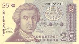 25 Dinar Kroatien UNC 1987 - Croatie
