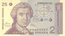 25 Dinar Kroatien UNC 1987 - Croatia