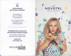 Novotel Amsterdam  Schiphol Airport--2182----Hotel--key Card, Room Key, Schlusselkarte, Hotelkart - Cartas De Hotels