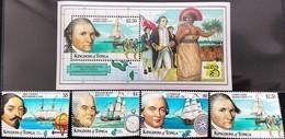 # Tonga 1999* Mi.1547-50 + Bl.34 James Cook , MNH [21;127] - Ohne Zuordnung