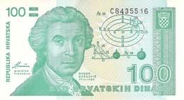 100 Dinar Kroatien UNC 1987 - Croatie