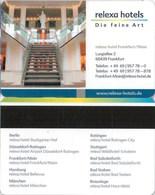 Relexa Frankfurt Die Feine Art-2419---Hotel--key Card, Room Key, Schlusselkarte, Hotelkart - Hotelkarten