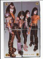 """Télécartes  Puzzle De 4 Cartes  Rock & Pop Groupe  """" The  KISS """" - Télécartes"""