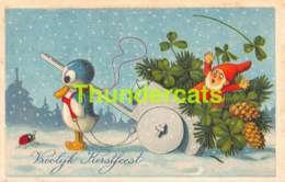 CPA ILLUSTRATEUR FRITZ BAUMGARTEN GNOME DWARF NAIN LUTIN PINGUIN CHILD ENFANT - Baumgarten, F.