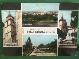 Cartolina Saluti Da Colle Sannita - Panorama  - Antico Campanile - 1971 - Benevento