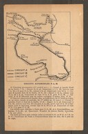 CARTE PLAN 1924 - CIRCUIT A B C AUTOMOBILE PLM P L M - FONTAINEBLEAU DENECOURT - BARBIZON MONTIGNY - Cartes Topographiques